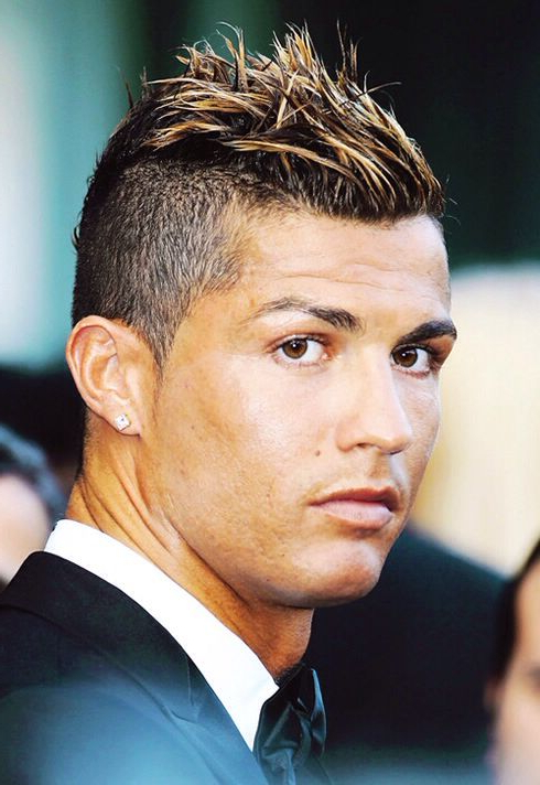 Cristiano Ronaldo The Best Football Player & The Greatest Of All In Mohawk Hairstyles With Length And Frosted Tips (View 17 of 25)