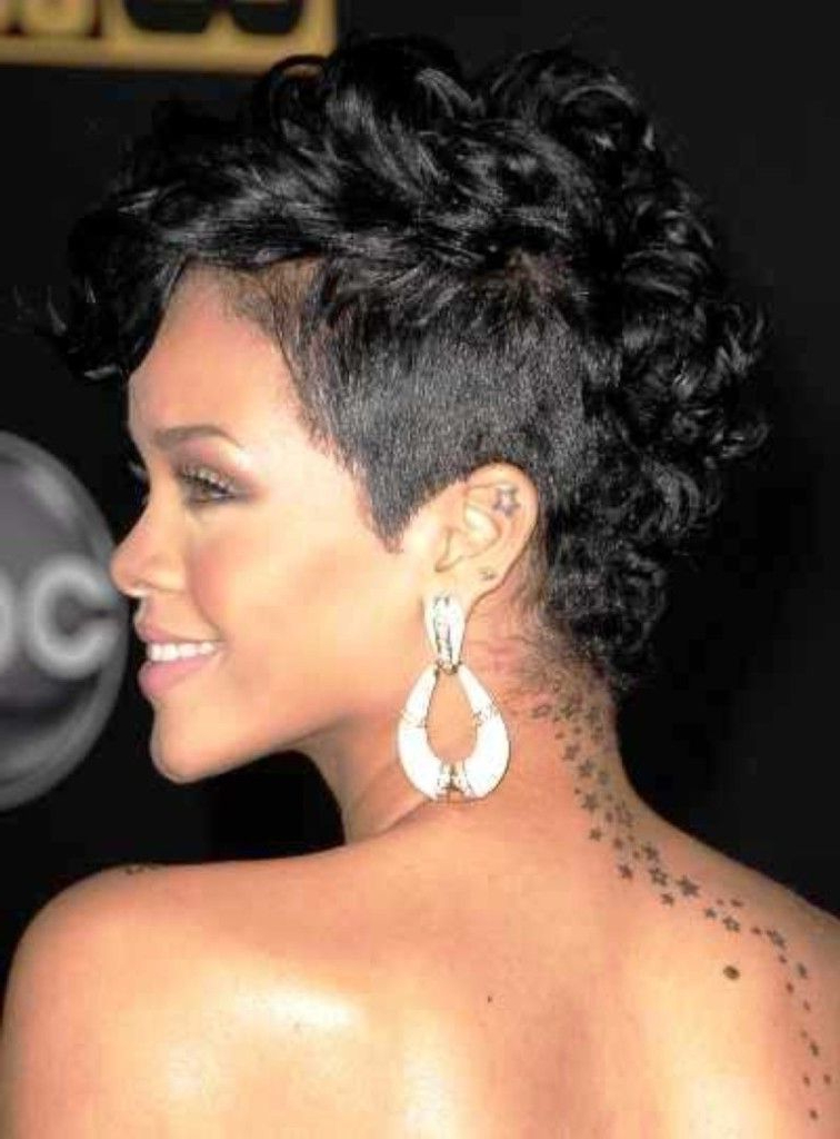 Curly Short Mohawk Hairstyles For Black Women | Natural Hairstyles Inside Heartbeat Babe Mohawk Hairstyles (View 8 of 25)