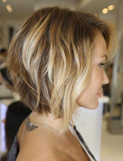 Cute Shorter Cut – Side View | Cool Shit To Do To My Hair With Most Current Layered Tousled Bob Hairstyles (View 14 of 25)