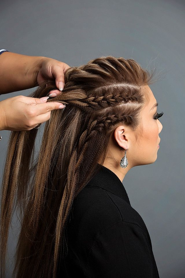 Day To Night Hairstyle | Braids | Pinterest | Braids, Hair And Hair with regard to Mini-Braided Babe Mohawk Hairstyles