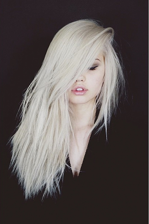 Debby Ryan Straight Platinum Blonde Choppy Layers, Side Part Within Most Up To Date Platinum Layered Side Part Hairstyles (View 14 of 25)