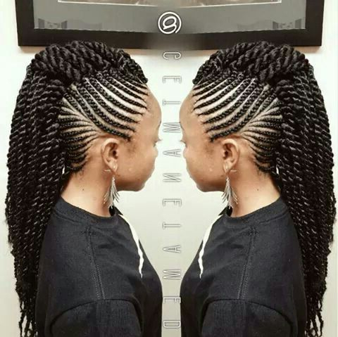 Don't Know What To Do With Your Hair: Check Out This Trendy Ghana Within Mohawk Hairstyles With Multiple Braids (View 13 of 25)