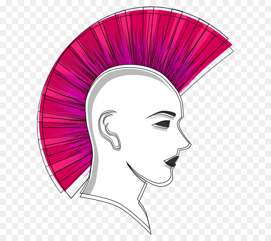 Download Mohawk Clipart Mohawk Hairstyle Clip Art | Woman, Face Regarding Pink And Purple Mohawk Hairstyles (Gallery 20 of 25)