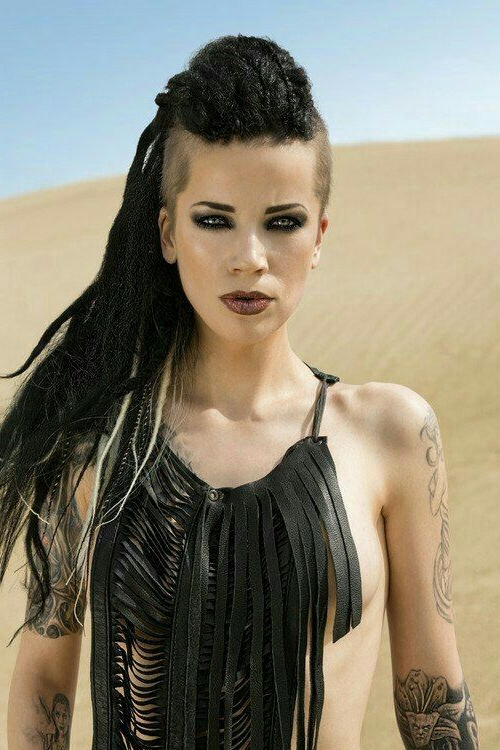 Dread Hawk! | Nails And Hair | Pinterest | Hair Styles, Hair And Dreads Pertaining To Spartan Warrior Faux Hawk Hairstyles (Gallery 24 of 25)
