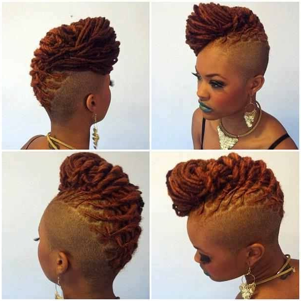 Dreadlock Mohawk Hairstyle For Women | Locs & Shaved Sides | Things Within Long Lock Mohawk Hairstyles (View 3 of 25)