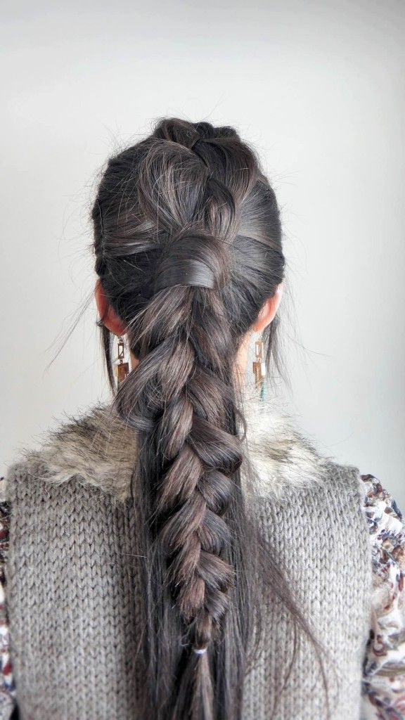 Dutch Braid Mohawk Ponytail Tutorial! Love This Look. Click The throughout Long-Lock Mohawk Hairstyles