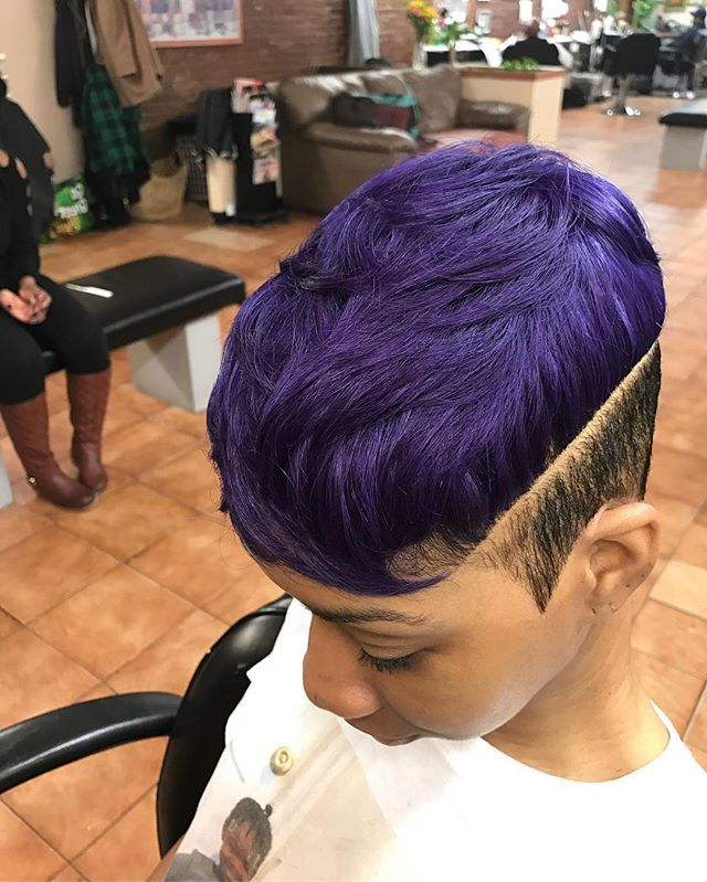 ? Go Follow @blackgirlsvault For More Celebration Of Black Beauty With Regard To Purple Rain Lady Mohawk Hairstyles (View 10 of 25)