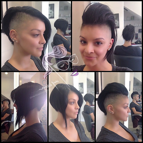 ??this Total #babe ? Arlene Let Me Do This Incredible #versatile Throughout Versatile Mohawk Hairstyles (View 17 of 25)