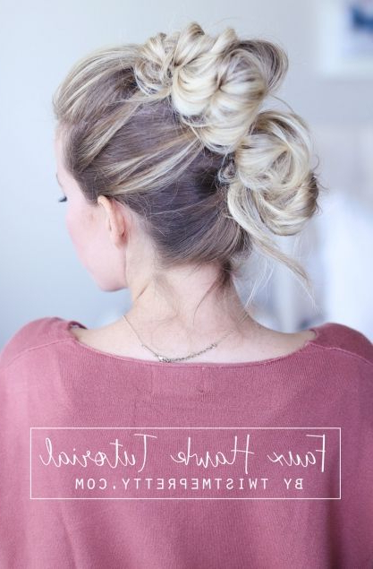 Easy Faux Hawk Tutorial – Abby Of | Hair Style | Hair Styles, Hair Intended For Wedding Day Bliss Faux Hawk Hairstyles (View 9 of 25)