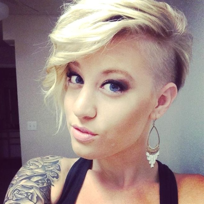 Edgy Hair, Undercut, Short Hair, Blonde, Bleach Blonde (View 21 of 25)