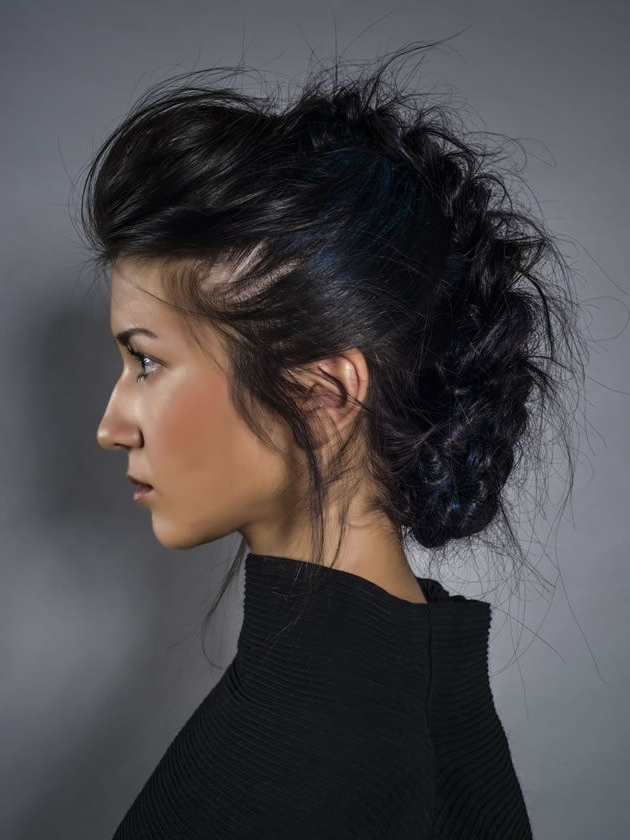 Fake Short Hairstyles That Will Let You Preserve Your Long Hair For Messy Hawk Hairstyles For Women (View 20 of 25)