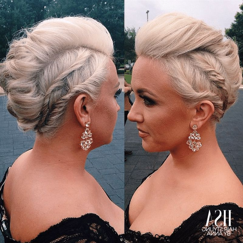 Faux Hawk Edgy Updo Hair For A Formal Wedding Bridesmaid | Upstyles with regard to Retro Pop Can Updo Faux Hawk Hairstyles