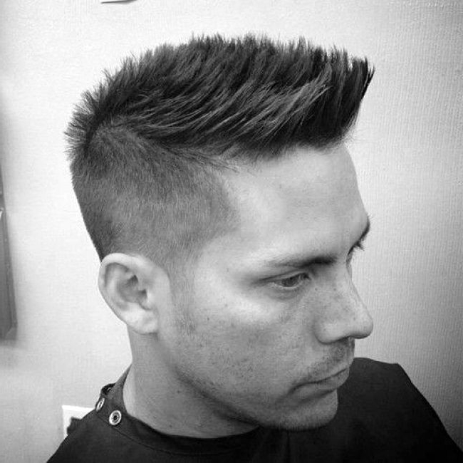 Faux Hawk Fade Haircut For Men Spiky Modern Styles With Fohawk inside Thrilling Fauxhawk Hairstyles