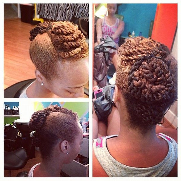 Faux Hawk Haircut Unique Natural Hairstyles Updo Pics Twisted Faux intended for Unique Updo Faux Hawk Hairstyles