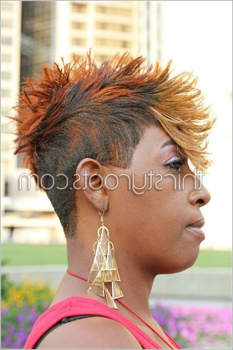 Faux Hawk Hairstyle For Black Women Throughout The Faux Hawk Mohawk Hairstyles (View 20 of 25)