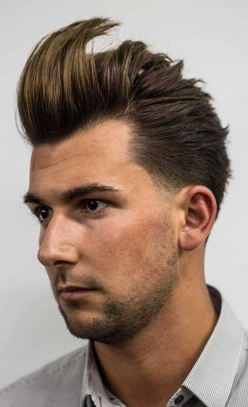 Faux Hawk Hairstyle – Keep It Even More Exciting With Fauxhawk Hairstyles With Front Top Locks (View 25 of 25)