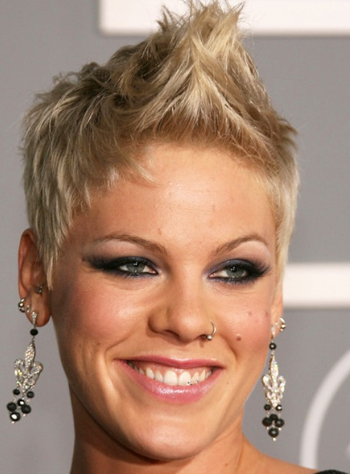 Faux Hawk Hairstyles For Women | in Curly Style Faux Hawk Hairstyles