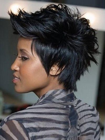 Faux Hawk Spiky Pixie Style For African American Women | Hair Now Regarding Asymmetrical Pixie Faux Hawk Hairstyles (View 10 of 25)