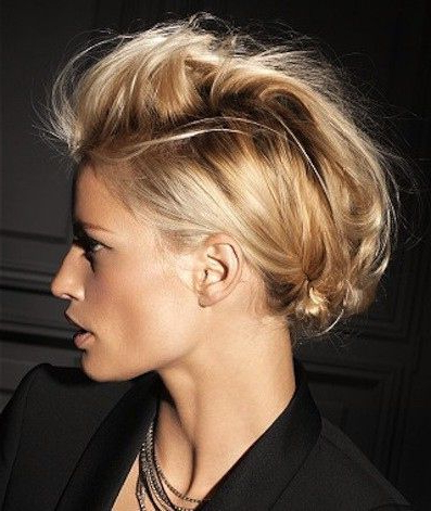 Faux-Mohawk-With-Banana-Clip | Clips And Accessories Hairstyles throughout Retro Pop Can Updo Faux Hawk Hairstyles