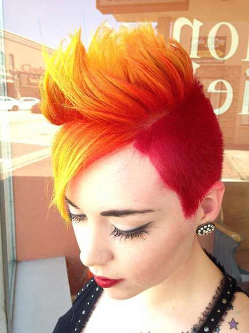 Fire Hair Colored … | Girly Stuff | Pinte… inside Vibrant Red Mohawk Updo Hairstyles