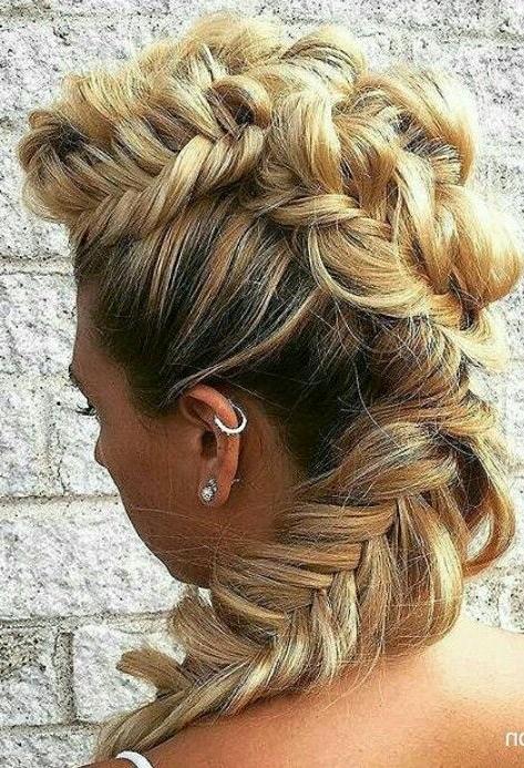 Fishtail Braided Mohawk Hairstyle @adfsalon | Hairstyles | Pinterest Regarding Mini Braided Babe Mohawk Hairstyles (View 6 of 25)