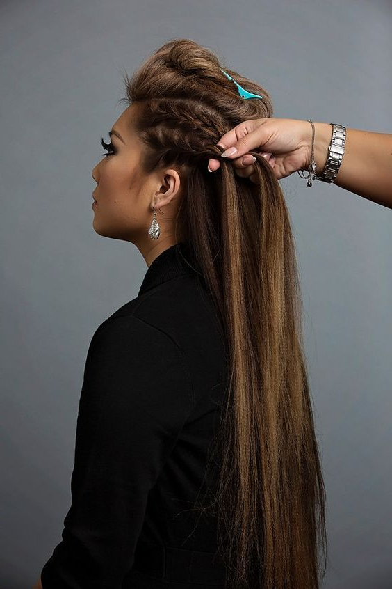 French Braid The Sides Of The Head | Your Beauty | Pinterest in Mohawk Hairstyles With Multiple Braids