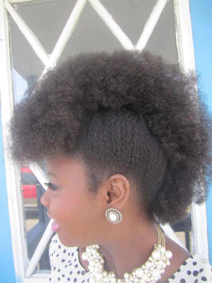 Fun, Fancy And Simple Natural Hair Mohawk Hairstyles with regard to Purple Rain Lady Mohawk Hairstyles