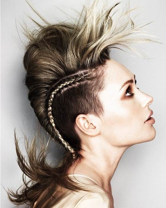 Futuristic Hairstyles For Long Hair | Hair | Hair, Mohawk Hairstyles Inside Mini Braided Babe Mohawk Hairstyles (View 9 of 25)