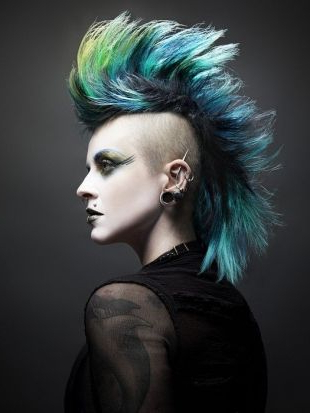 Girl Mohawk Hairstyles Trends And Ideas | Hair/makeup | Pinterest Pertaining To Work Of Art Mohawk Hairstyles (Gallery 7 of 25)