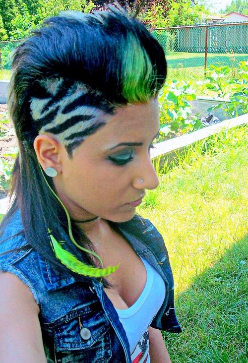 Girl Mohawk-Not To Many Girls Could Pull That Off But This Girl Did pertaining to Heartbeat Babe Mohawk Hairstyles