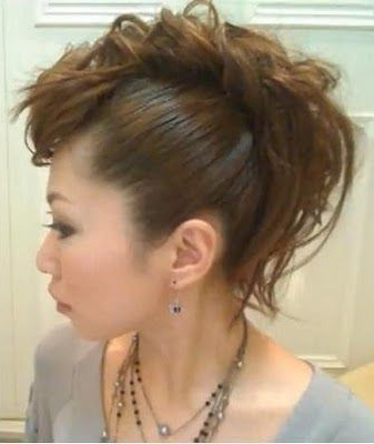 Girl Mohawk Without Cutting Any Hair! Sweet! | Styles I Like | Hair Throughout Divine Mohawk Like Updo Hairstyles (View 7 of 25)