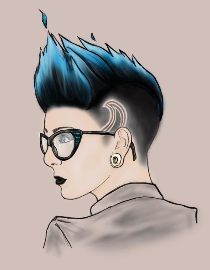 Girl With Mohawk And Glasses | Molly's Original Work | Pinterest Pertaining To Hot Pink Fire Mohawk Hairstyles (Gallery 16 of 25)