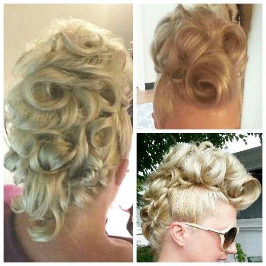 Glamorous Mohawk Updo Createdlindsey Buckner @ Bridge St. Hair Regarding Glamorous Mohawk Updo Hairstyles (Gallery 14 of 25)