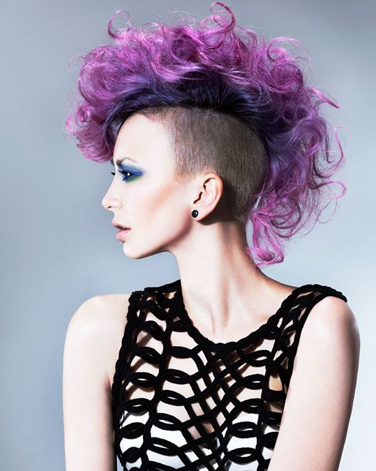 Good Looking Purple Mohawk! Credits To Come. #hotonbeauty In Pink And Purple Mohawk Hairstyles (Gallery 1 of 25)