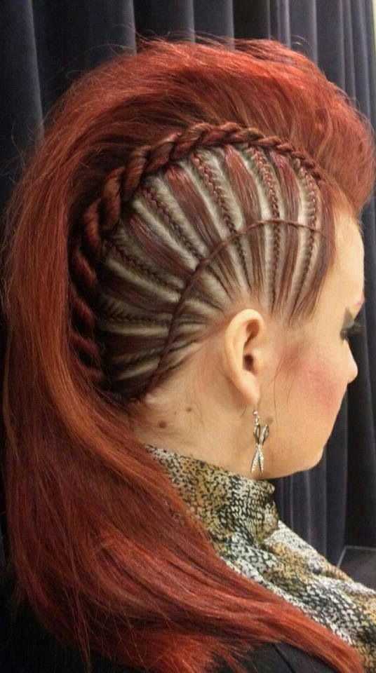 Gorgeous Red Updos! | Hairstyles | Hair Styles, Hair, Braids In Punk Rock Princess Faux Hawk Hairstyles (Gallery 11 of 25)