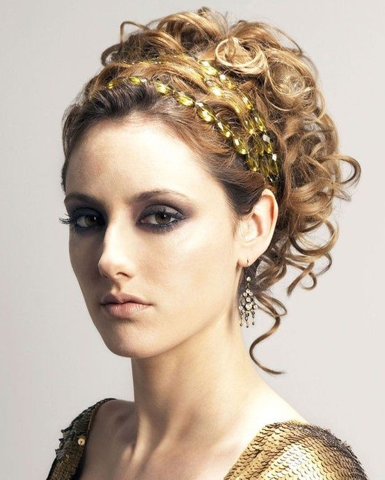 Greek Goddess Makeup And Hair | This Hair Style Reminds Me Of A in Athenian Goddess Faux Hawk Updo Hairstyles