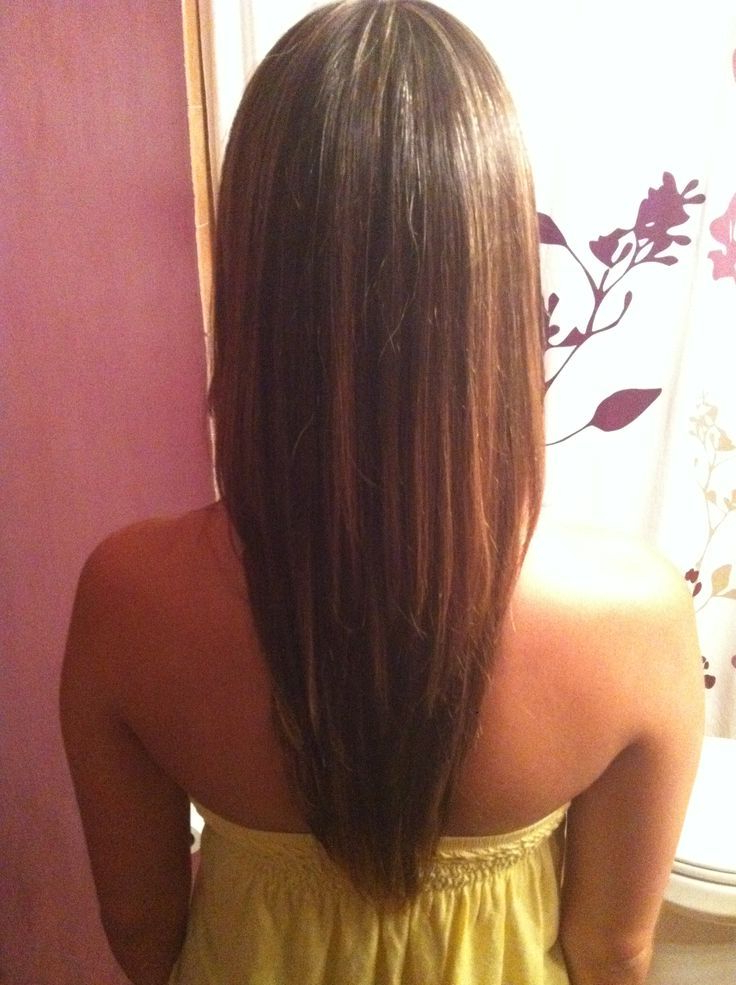 Haircut For Long Hair With Layers Front View | Cute Haircuts In Recent Shoulder Length Haircuts With Long V Layers (View 9 of 25)