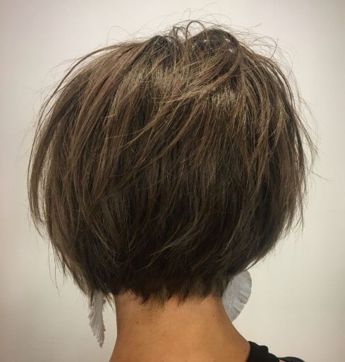 Hairstyle: Splendid Short Haircuts For Thick Hair Tahun (2018,2019 Within Newest Feathered Brunette Lob Haircuts (View 10 of 25)