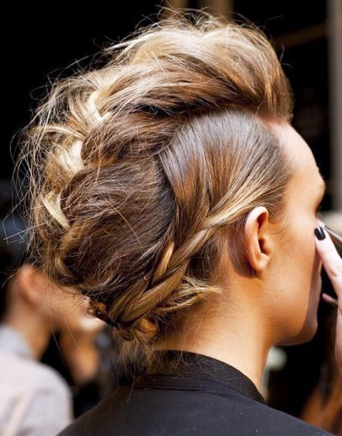 Hairstyles For The Big Event: 6 Braided Updos To Master – Thefashionspot For French Braid Pinup Faux Hawk Hairstyles (View 16 of 25)