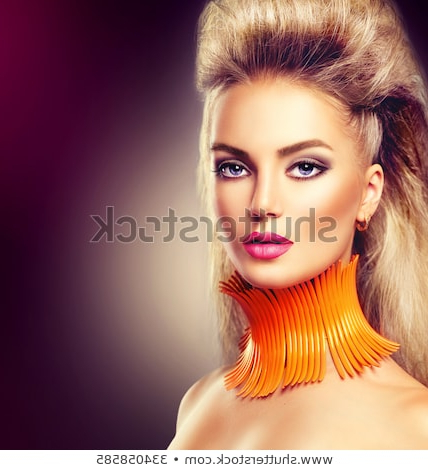 High Fashion Model Girl Mohawk Hairstyle Stock Photo (Edit Now In Glamorous Mohawk Updo Hairstyles (View 16 of 25)