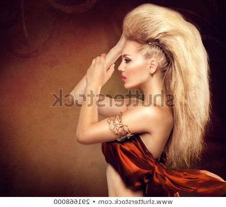 High Fashion Model Girl Mohawk Hairstyle Stock Photo (Edit Now Intended For Glamorous Mohawk Updo Hairstyles (View 9 of 25)