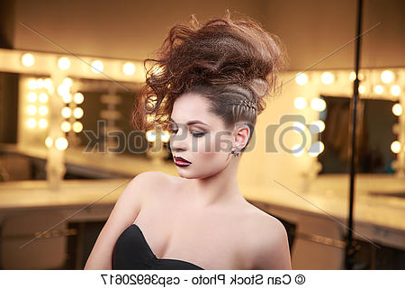 High Fashion Model Woman With Mohawk Hairstyle (View 10 of 25)