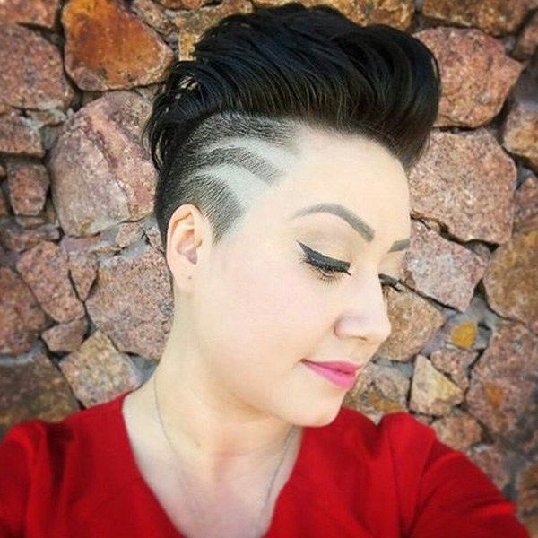 High Mohawk With Side Undercut | Hairstyles | Pinterest | Hair In High Mohawk Hairstyles With Side Undercut And Shaved Design (View 13 of 25)
