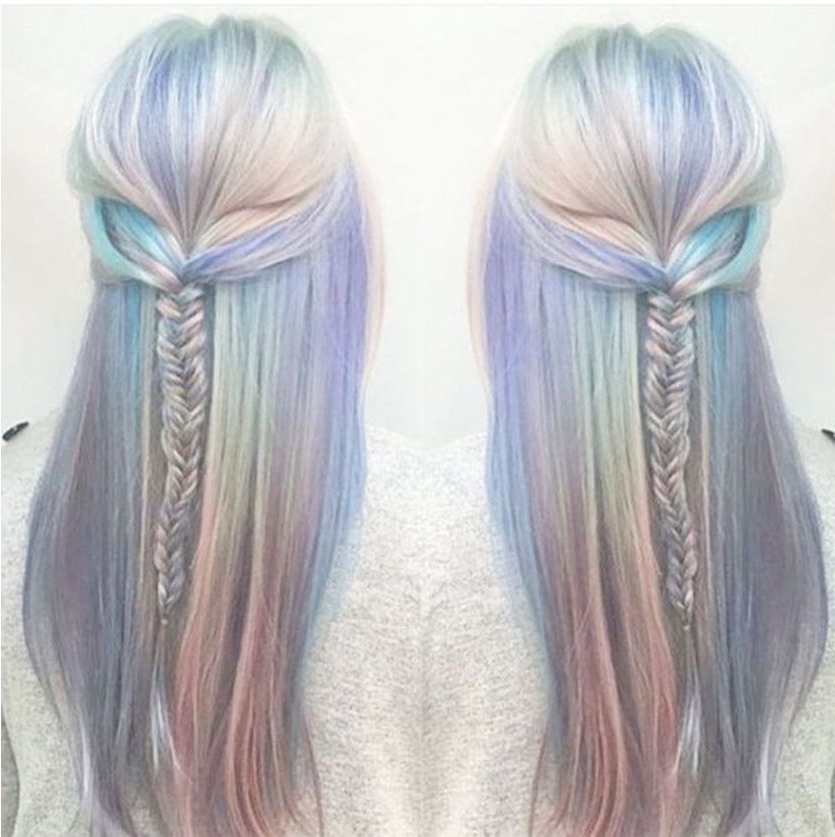 Holographic Hair – The Hottest New Hair Color Trend | Summer Hair With Holograph Hawk Hairstyles (View 19 of 25)