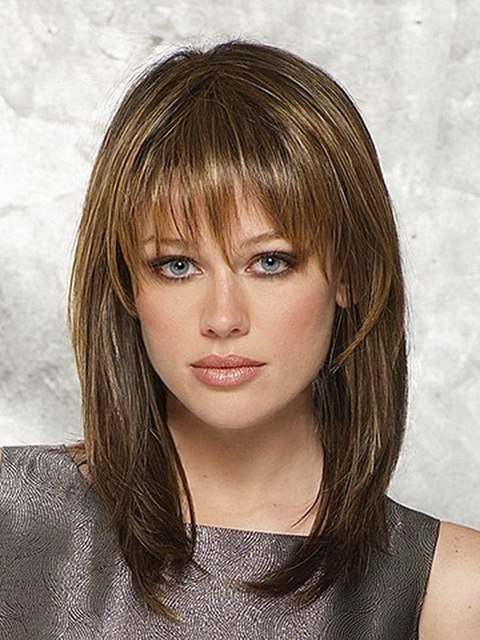 Hot Sale 14Inch Latest Medium Length Hairstyles Heat Resistant For Best And Newest Heat Free Layered Hairstyles (View 9 of 25)