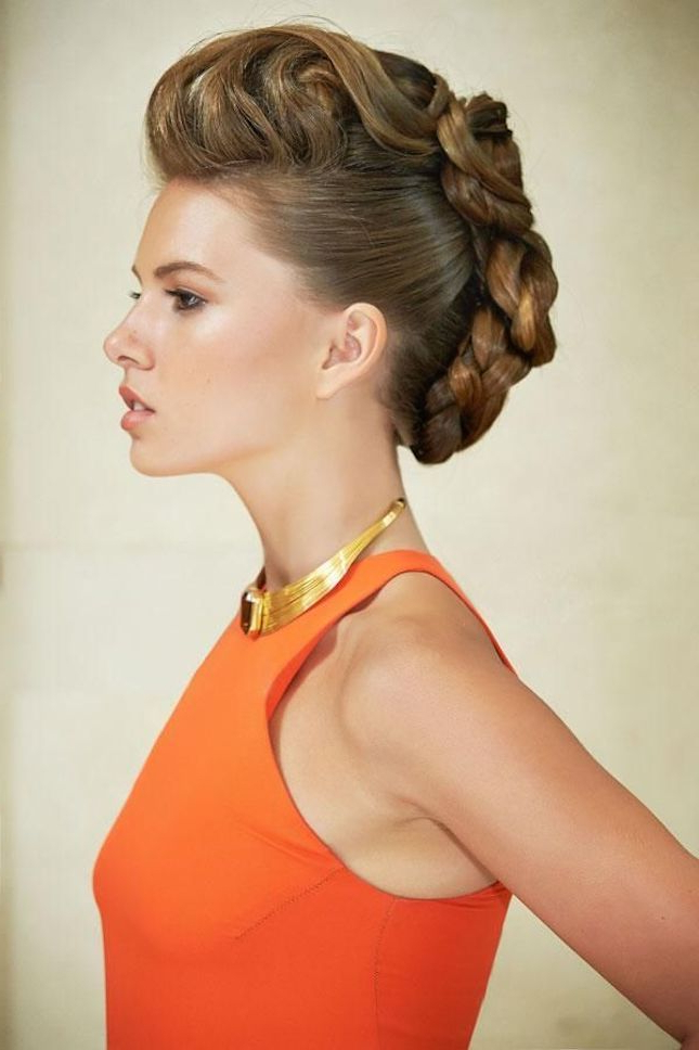 How Cool Is This Braided Faux Hawk?   Beauty From Brit + Co Throughout Unique Updo Faux Hawk Hairstyles (View 22 of 25)