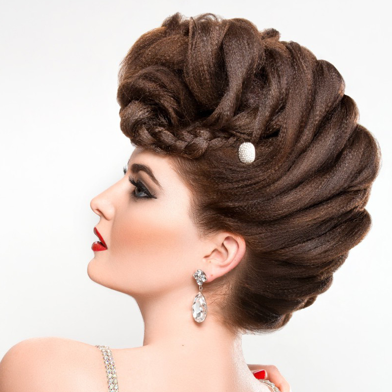 How To Create A French Braided Fauxhawk For French Braid Pinup Faux Hawk Hairstyles (View 13 of 25)