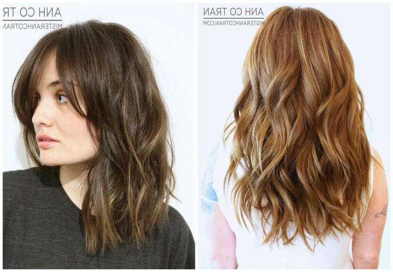 How To Create Beachy Waves In Hair Inside Most Current Shaggy Lob Hairstyles With Beach Waves (View 15 of 25)