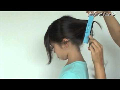 How To Cut A Layered A Line Bob And Side Bangs Hairstyle – Youtube With Most Popular Bob Haircuts With Symmetrical Swoopy Layers (View 9 of 25)