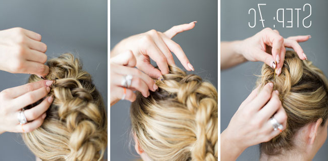 How To Do A Fauxhawk Braid – Beautyeden Di Bianco Pertaining To French Braid Pinup Faux Hawk Hairstyles (View 12 of 25)